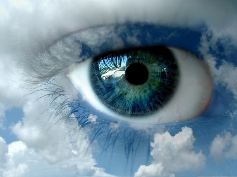 eye sky  blue